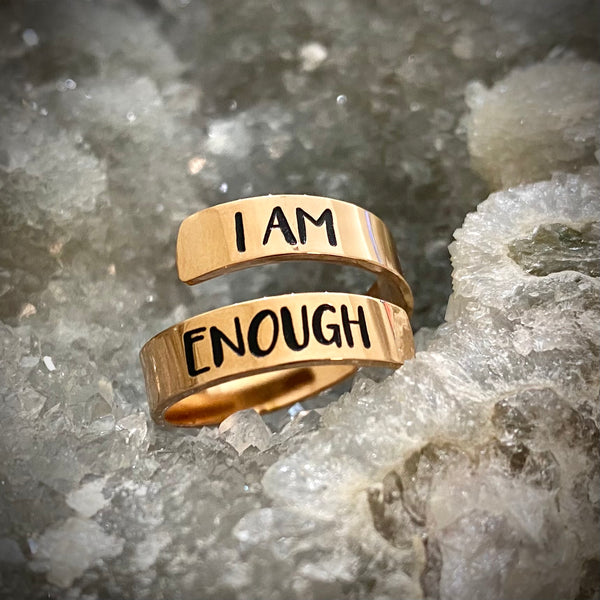 I Am Enough Ring (Rose Gold)