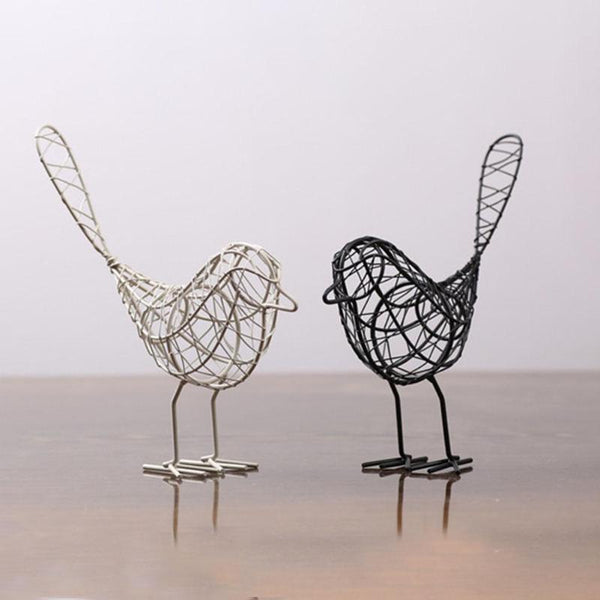 Mini Iron Bird Figurines