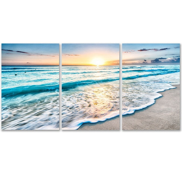3 Sheets Nordic Beach Wall Poster
