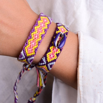 Braided Shell Bracelet (2 Pieces)