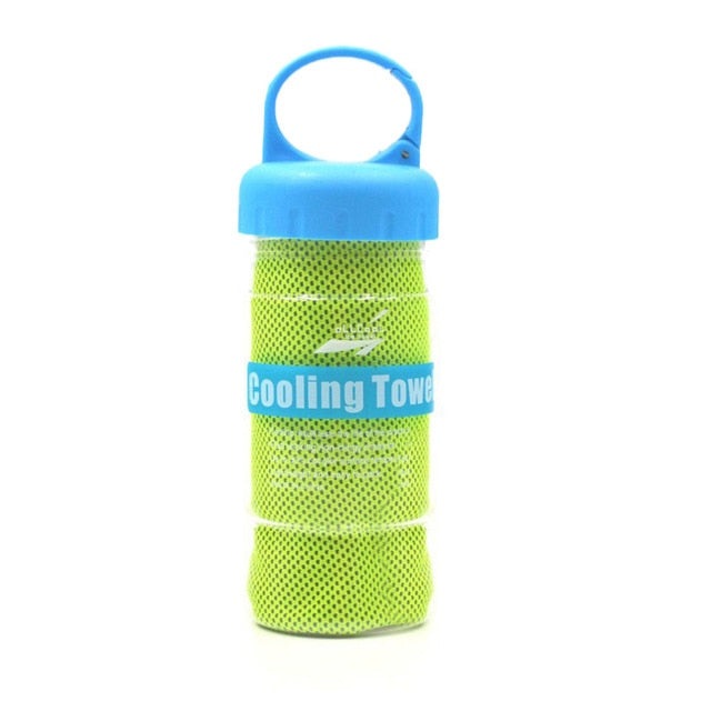Cooling Towel with Bottle (4 Colors)