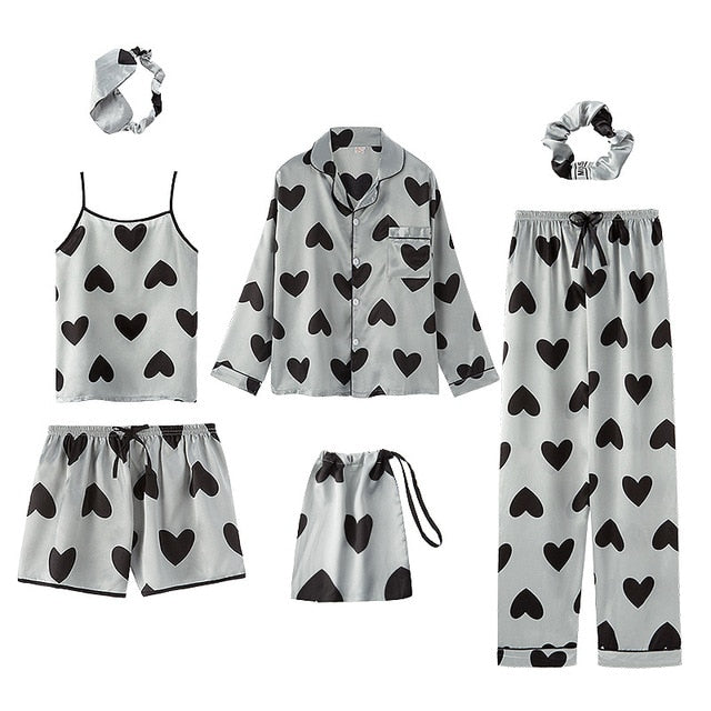 Hearts Pajama Set (7 Pieces)