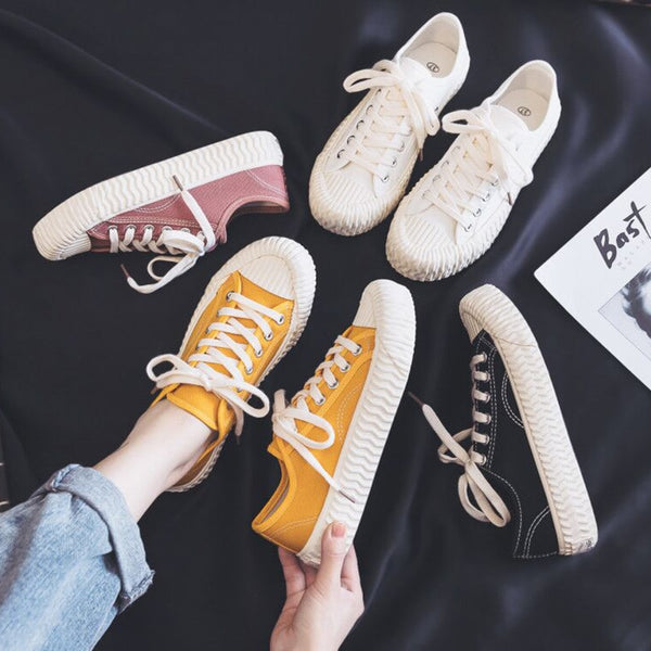 Canvas Sneakers (4 Colors)