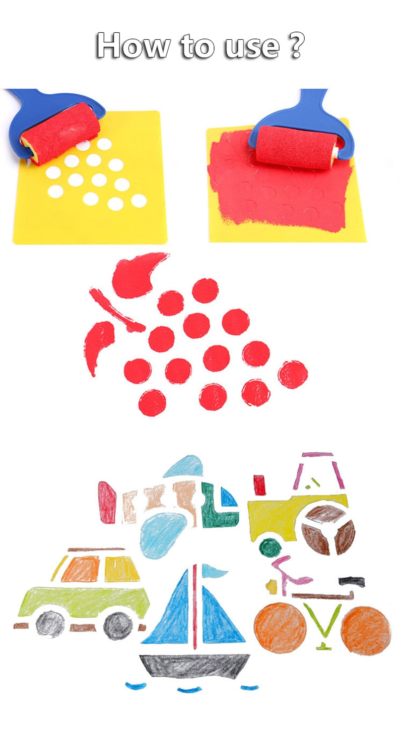 Cute Stencils (6 Pieces) (10 Variants)
