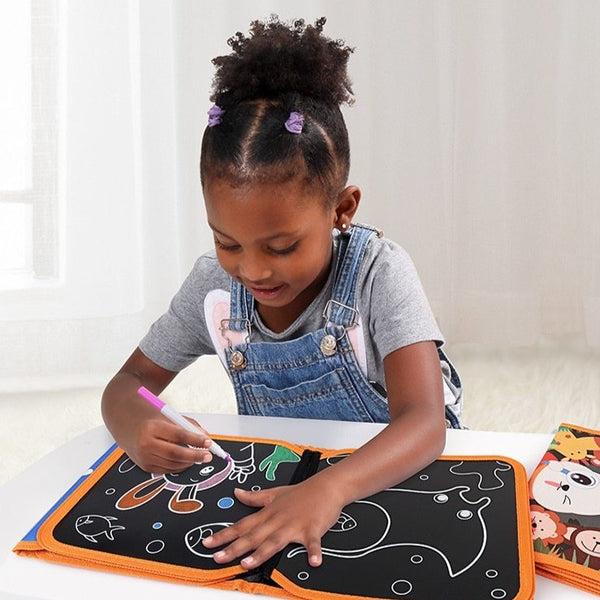 Blackboard Painting with FREE Felt Tip Pens (4 Designs)