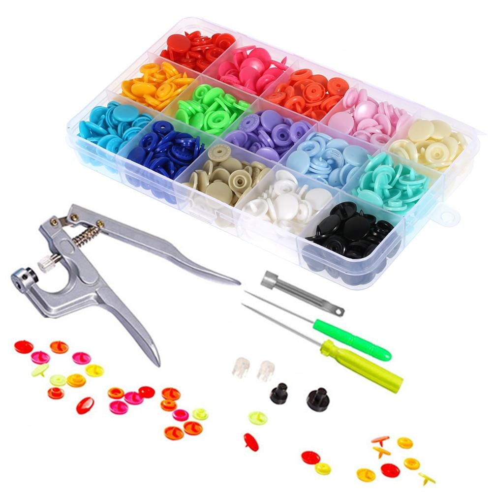 Fastener Snap Button with Snaps Pliers Tool Kit (1500 Pieces)