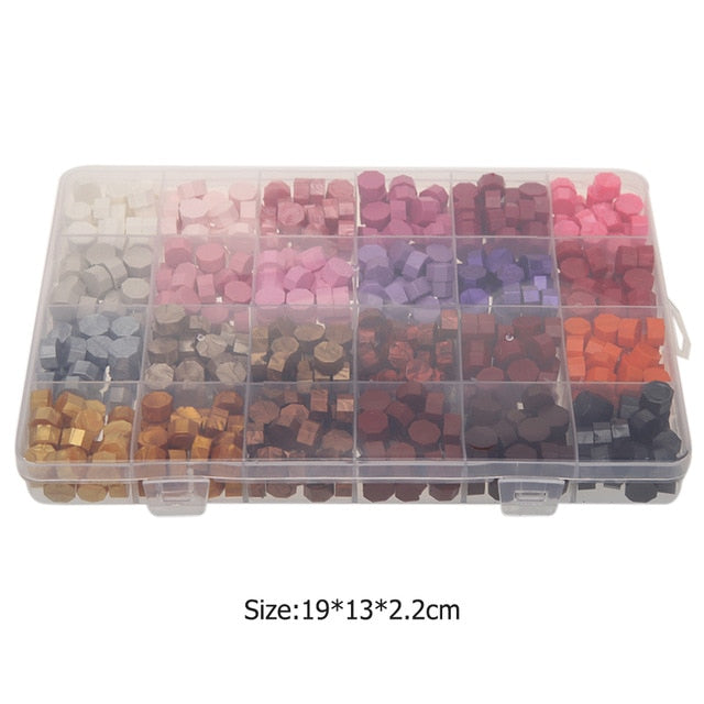 Wax Sealing Set with Container (700 Pieces)