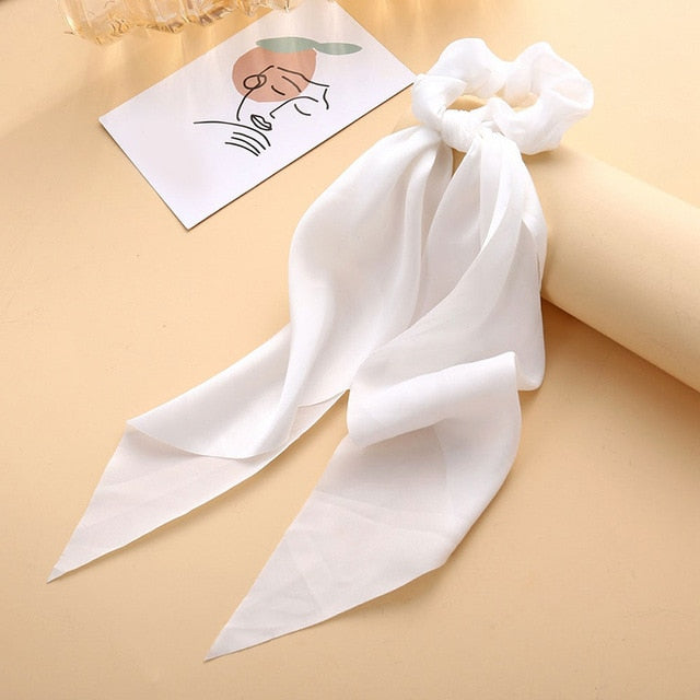 Satin Bowknot Hair Tie (13 Colors)