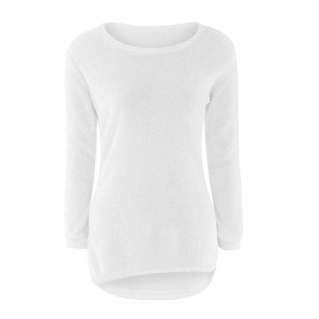 Solid Jumper Fem Things White L