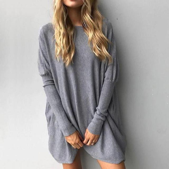 Long Sweater Fem Things Gray S