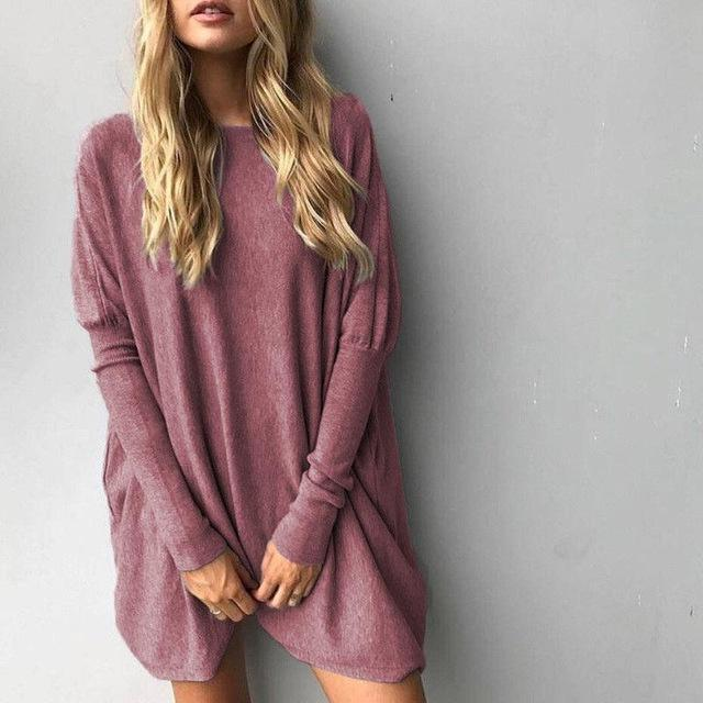 Long Sweater Fem Things Burgundy M