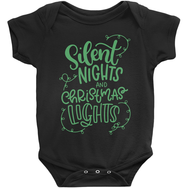 Silent Nights and Christmas Lights - Baby Bodysuit