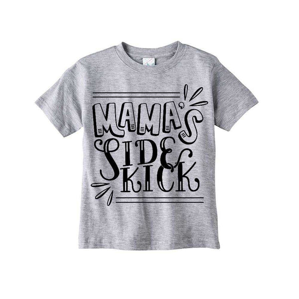 ORIGINAL Toddler/Kids Graphic Tee - Heather Grey - Mama's Sidekick