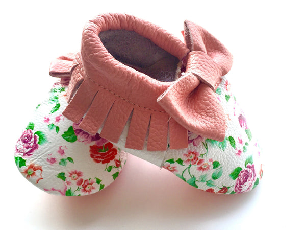 Baby Moccasins - Floral