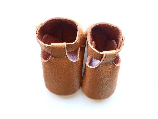Baby T-Strap Shoes - Rust Brown