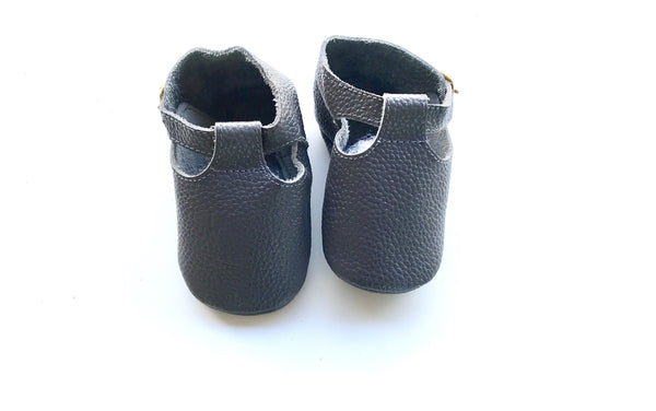 Baby T-Strap Shoes - Grey