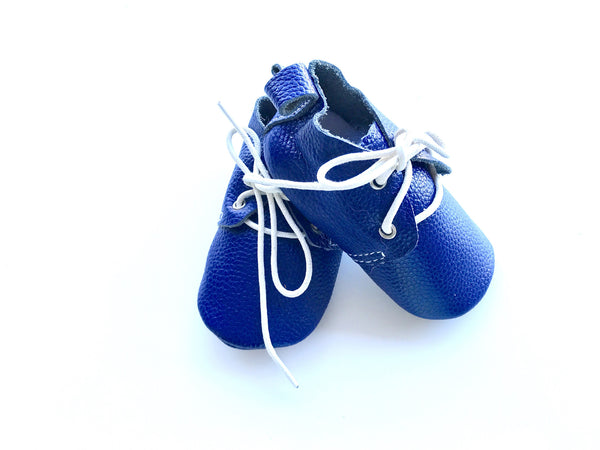 Baby Lace Up Oxford - Navy Blue