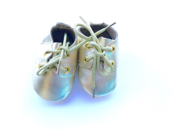 Baby Lace Up Oxford - Gold