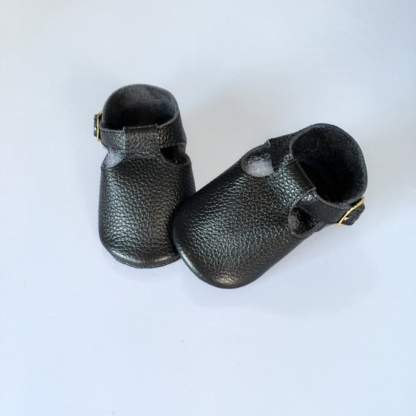 Baby T-Strap Shoes - Black