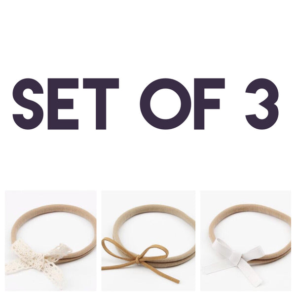 Boho Nylon Headbands (Set of 3)