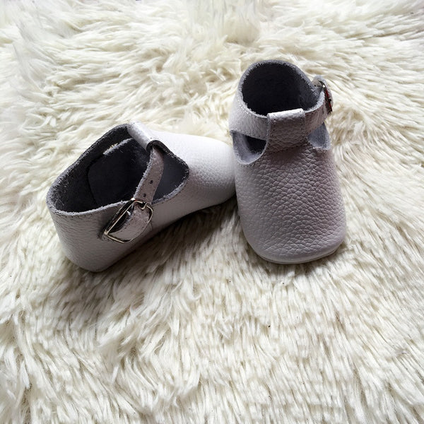 Baby T-Strap Shoes - White