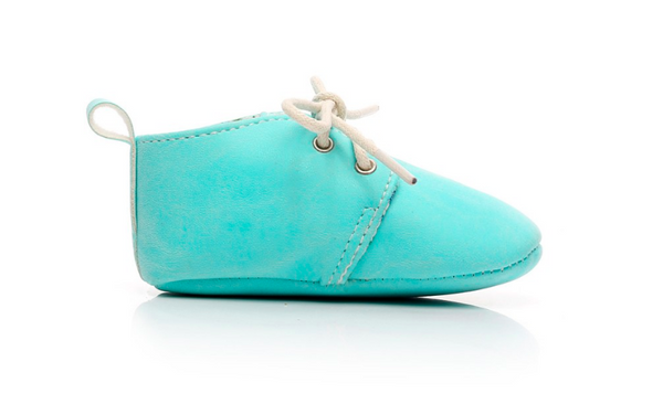 Baby Lace Up Oxford - Aqua