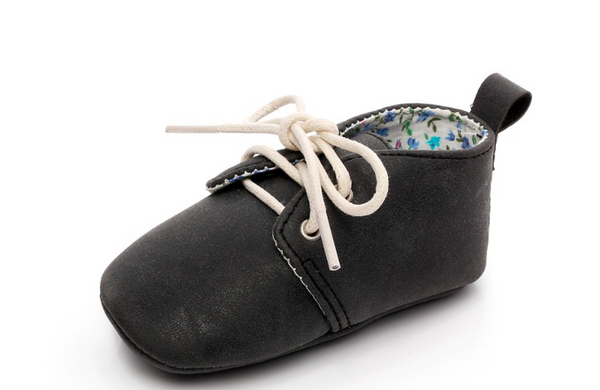 Baby Lace Up Oxford - Black