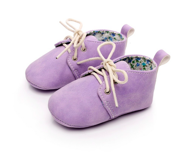 Baby Lace Up Oxford - Lavender