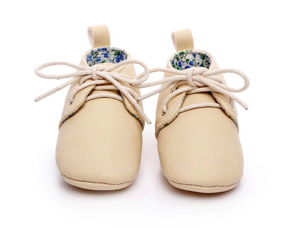 Baby Lace Up Oxford - Beige