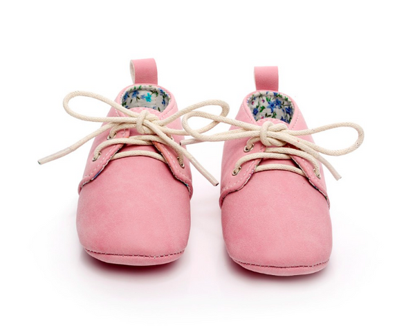 Baby Lace Up Oxford - Pink