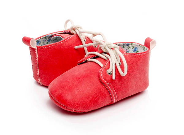 Baby Lace Up Oxford - Red