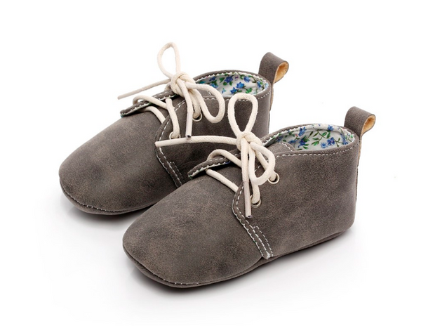 Baby Lace Up Oxford - Grey