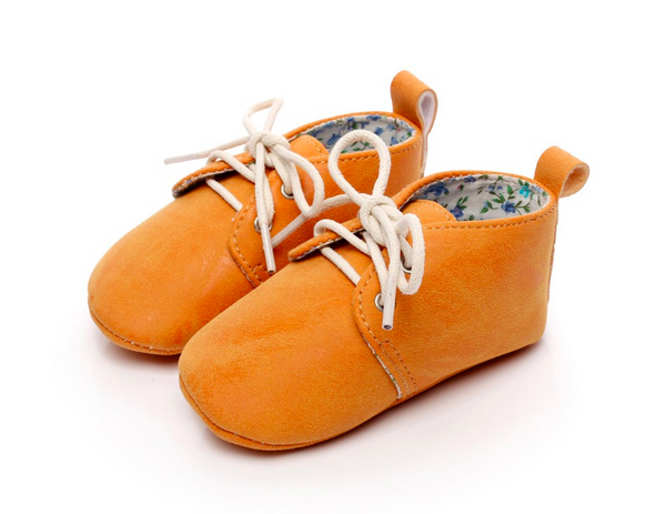 Baby Lace Up Oxford - Clementine Orange
