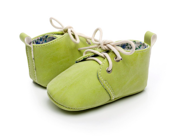 Baby Lace Up Oxford - Sage Green