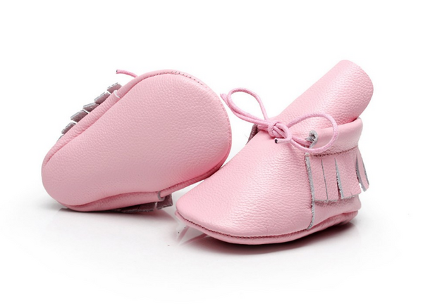 READY TO SHIP Lace Up Moccasin Boots - Soft Pink