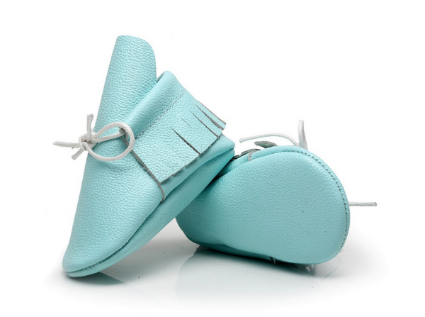 Baby Lace Up Moccasin Boots - Ice Blue