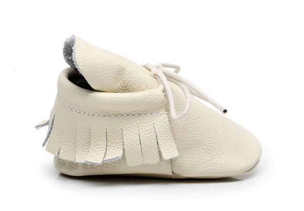 Baby Lace Up Moccasin Boots - Beige