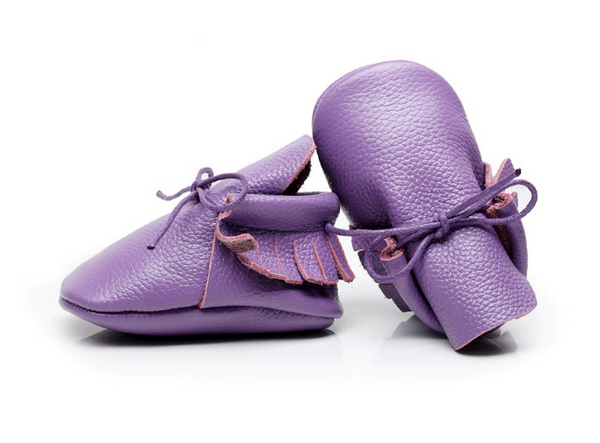Baby Lace Up Moccasin Boots - Purple