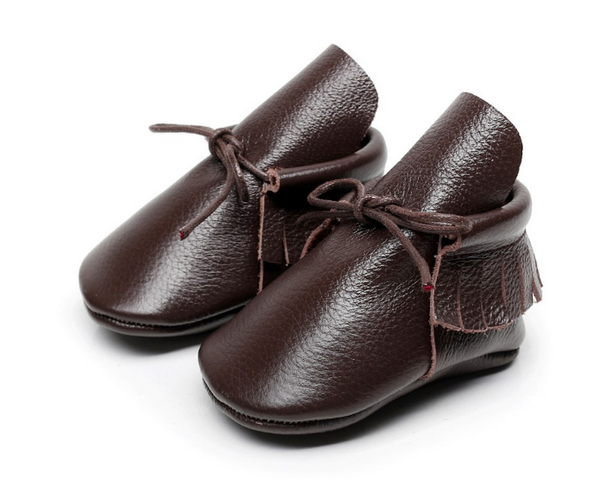 Baby Lace Up Moccasin Boots - Dark Brown