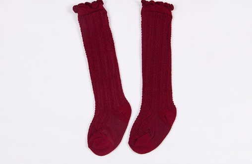 Baby/Toddler Cranberry Knee High Socks