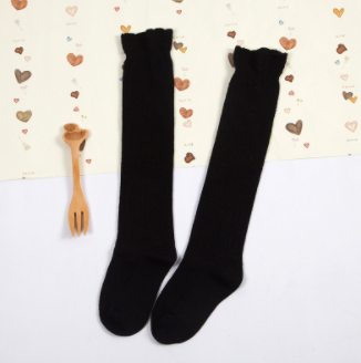 Baby/Toddler Black Knee High Socks