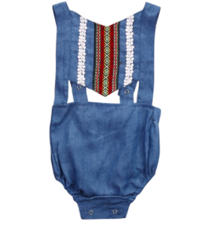 Baby/Toddler Denim Romper