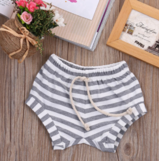 Grey Kids Striped Shorts