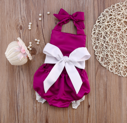 Baby/Toddler Purple Lace Romper
