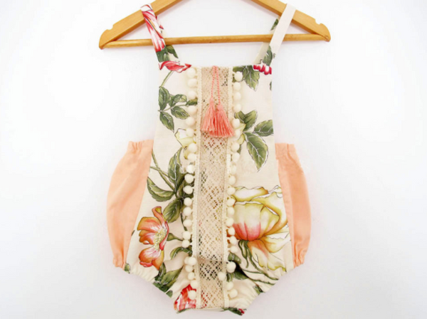 Baby/Toddler Blush Floral Romper