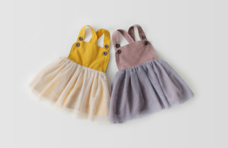 Toddler Mauve Button Dress
