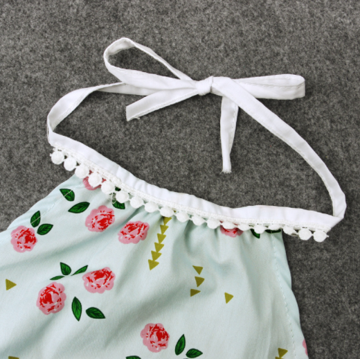 Baby/Toddler Mint Floral Romper