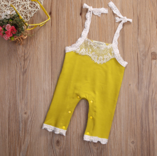Baby/Toddler Canary Lace Romper