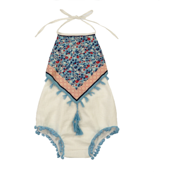 Baby/Toddler White Boho Romper