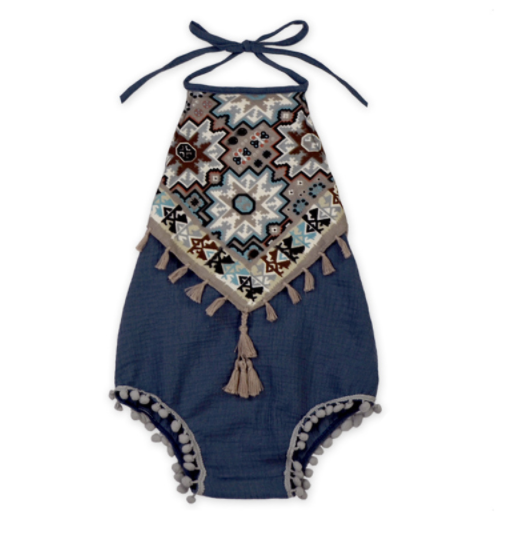 Baby/Toddler Blue Boho Romper